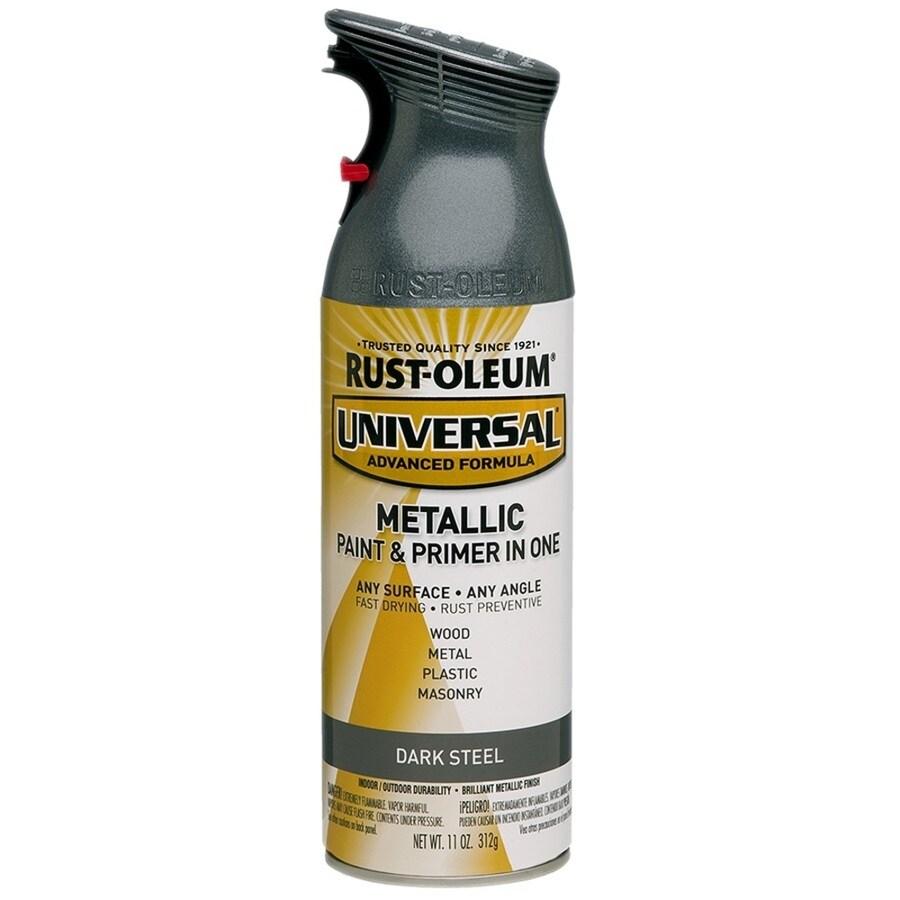Rust-Oleum Universal Dark Steel Metallic Rust Resistant Enamel Spray Paint (Actual Net Contents: 11-oz)