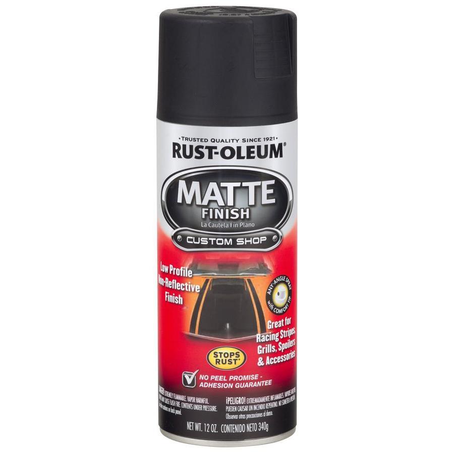 Rust-Oleum Automotive Black Rust Resistant Enamel Spray Paint (Actual Net Contents: 12-oz)