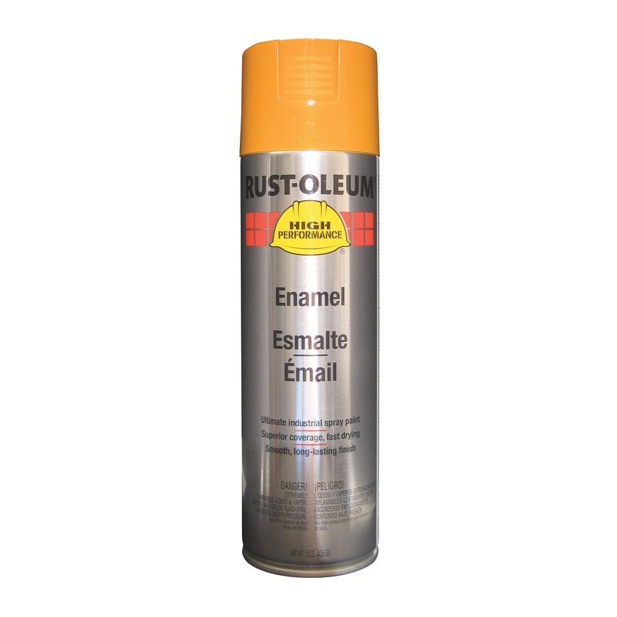 Shop rust oleum high performance equipment yellow rust resistant enamel spray paint actual net Spray paint supplies