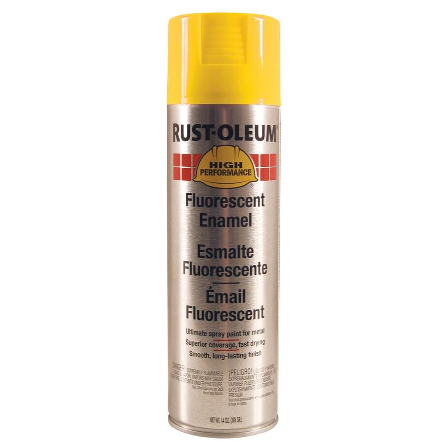 Rust-Oleum High Performance Fluorescent Yellow Fade Resistant Enamel Spray Paint (Actual Net Contents: 14-oz)