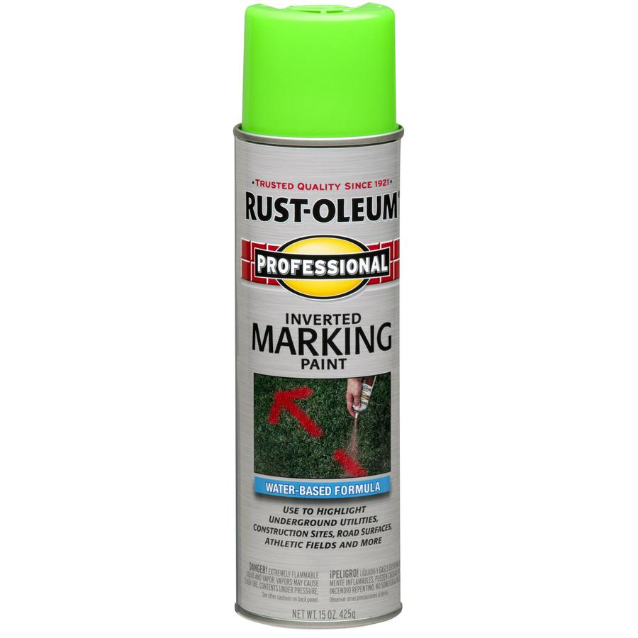 Rust-Oleum Professional Marking Fluorescent Green Fluorescent Fade Resistant Spray Paint (Actual Net Contents: 15-oz)