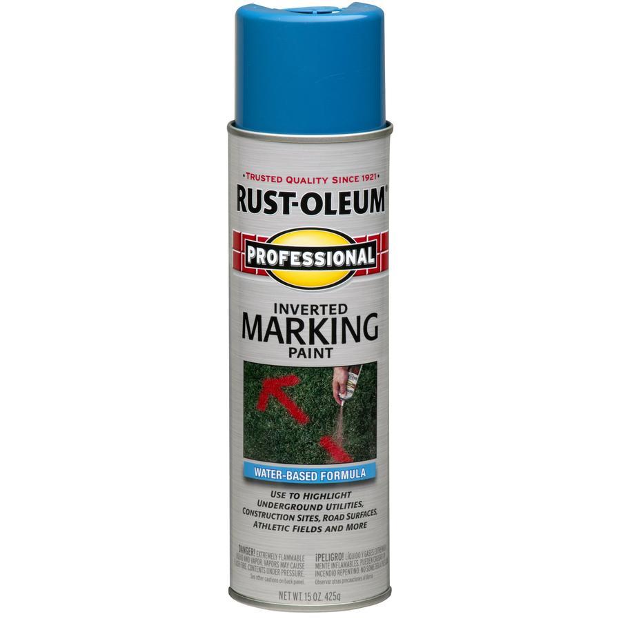 Rust-Oleum Professional Marking Caution Blue Fade Resistant Spray Paint (Actual Net Contents: 15-oz)