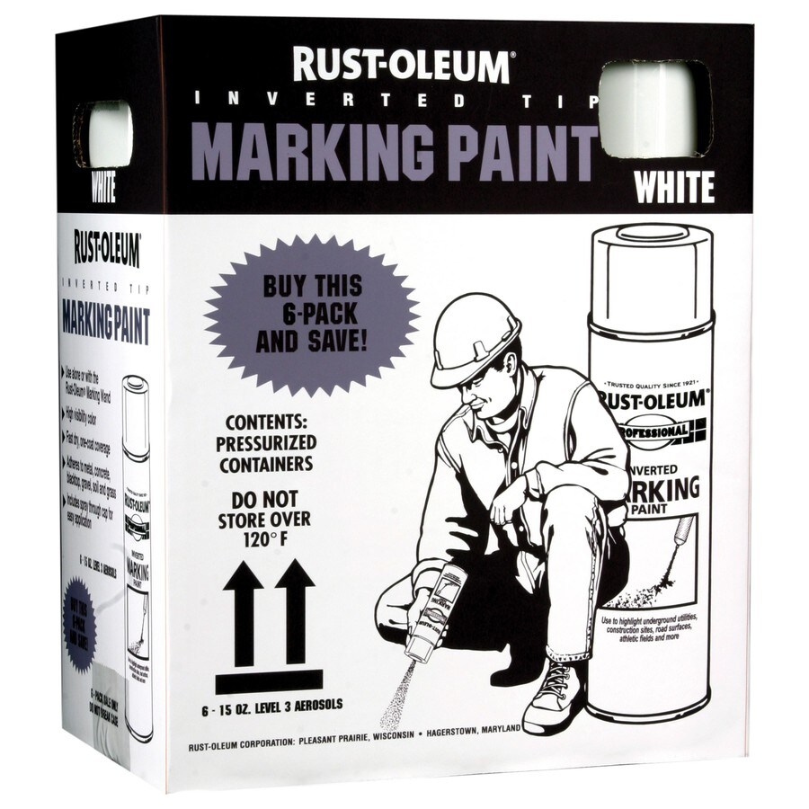 marking white fade resistant spray paint actual net contents 15 oz. Black Bedroom Furniture Sets. Home Design Ideas