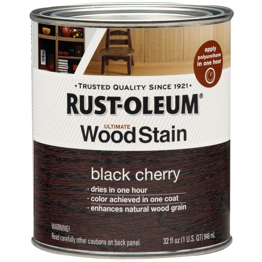 Shop Rust Oleum Ultimate Wood Stain 32 Fl Oz Black Cherry