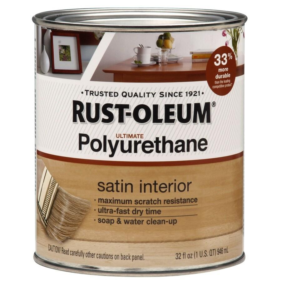 Rust-Oleum Ultimate Poly Satin Water-Based 32 Unit Of Measure Polyurethane