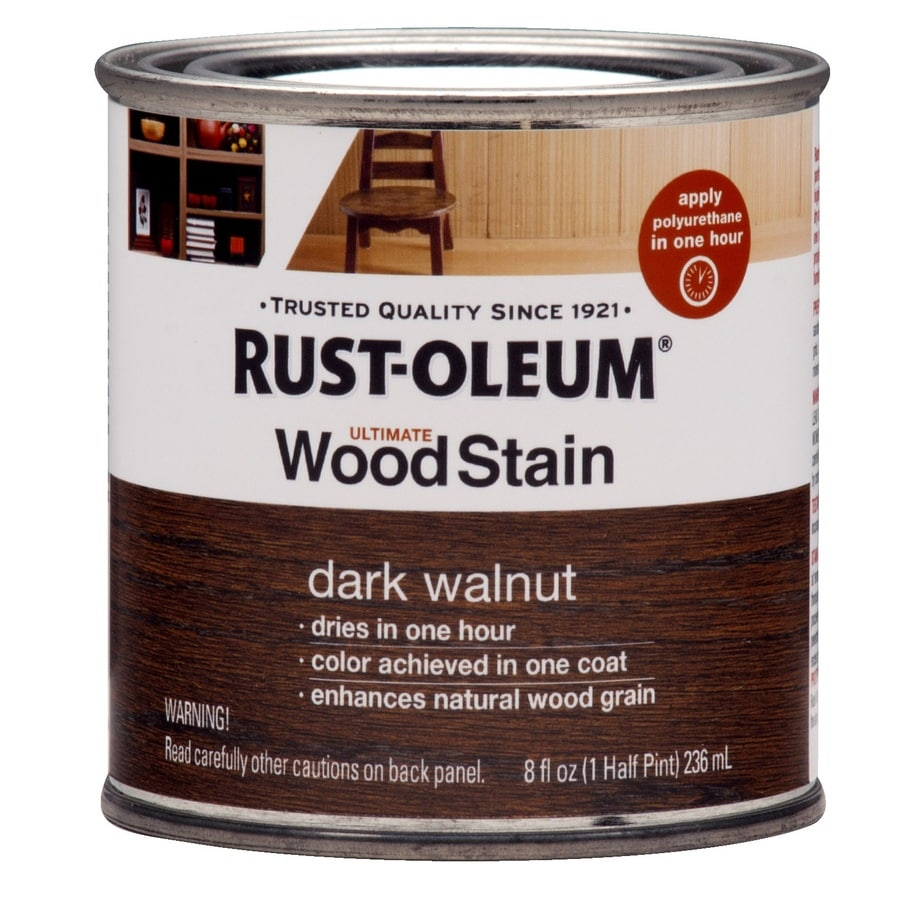 Shop Rust Oleum Ultimate Wood Stain 8 Fl Oz Dark Walnut Oil Based Interior Stain At