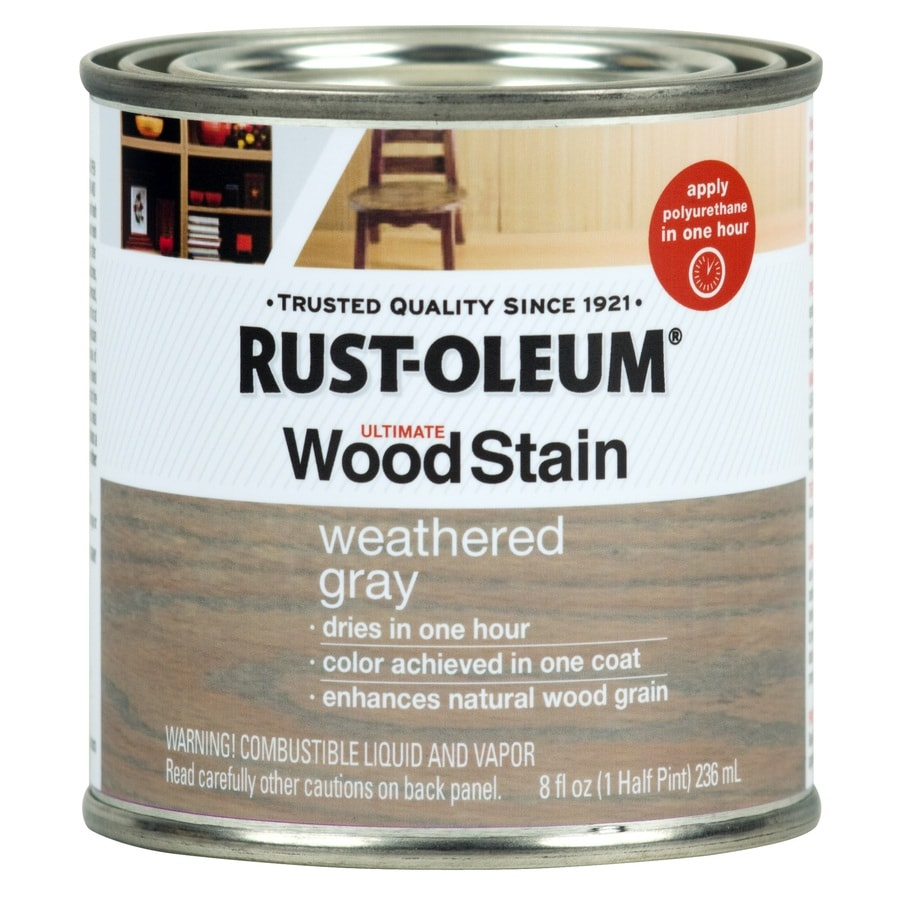Rust-Oleum Ultimate Wood Stain 8-fl oz Weathered Grey Oil-Based Interior Stain