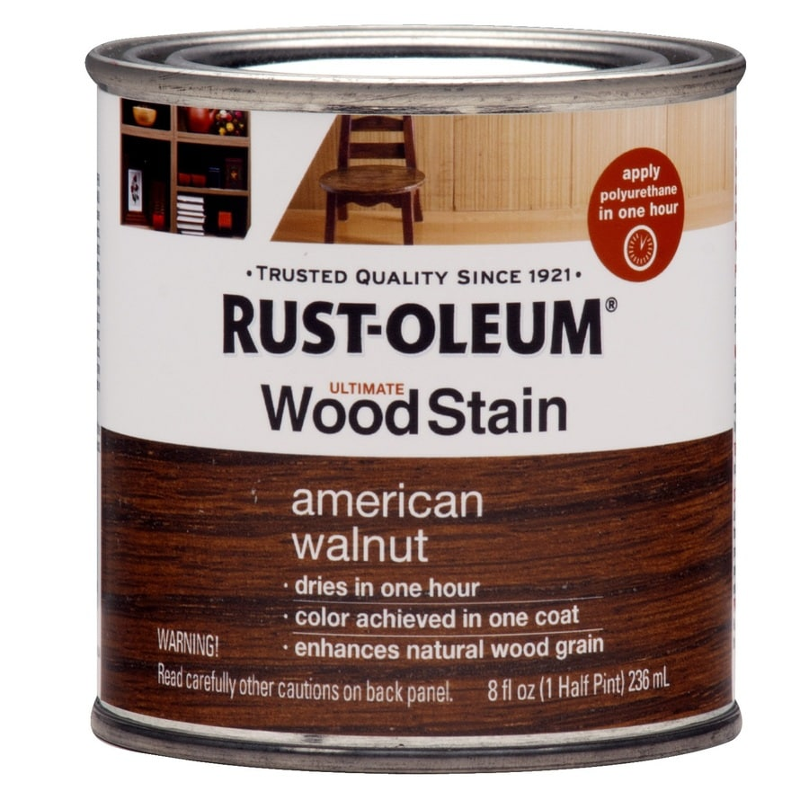 Rust-Oleum Ultimate Wood Stain 8-fl oz American Walnut Oil-Based Interior Stain