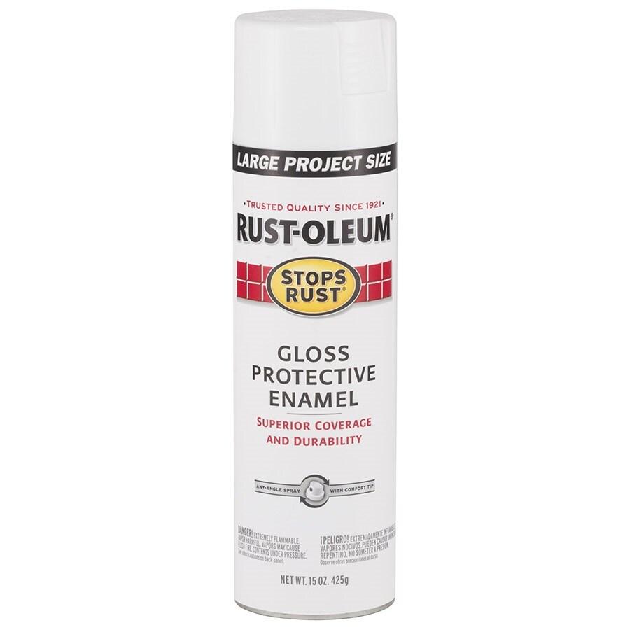 Rust-Oleum Stops Rust White Rust Resistant Enamel Spray Paint (Actual Net Contents: 15-oz)