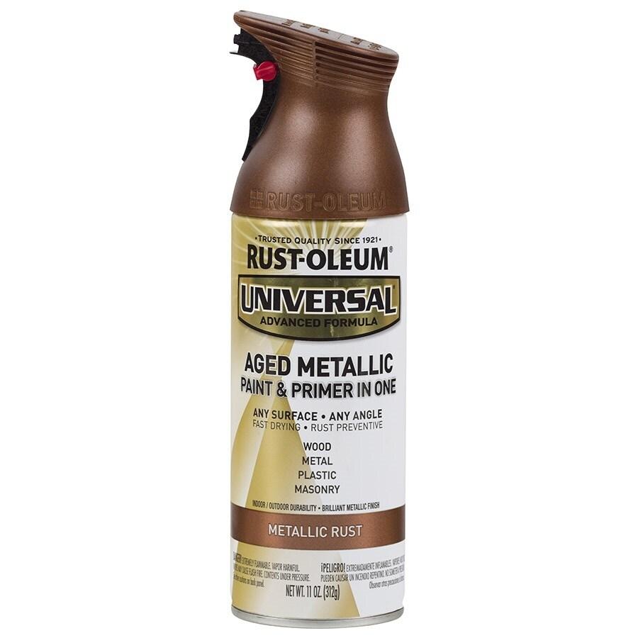 Rust-Oleum Universal Aged Metal Rust Metallic Rust Resistant Enamel Spray Paint (Actual Net Contents: 11-oz)