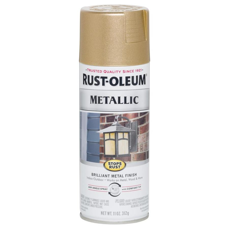 Rust-Oleum Stops Rust Vintage Rose Gold Metallic Rust Resistant Enamel Spray Paint (Actual Net Contents: 11-oz)