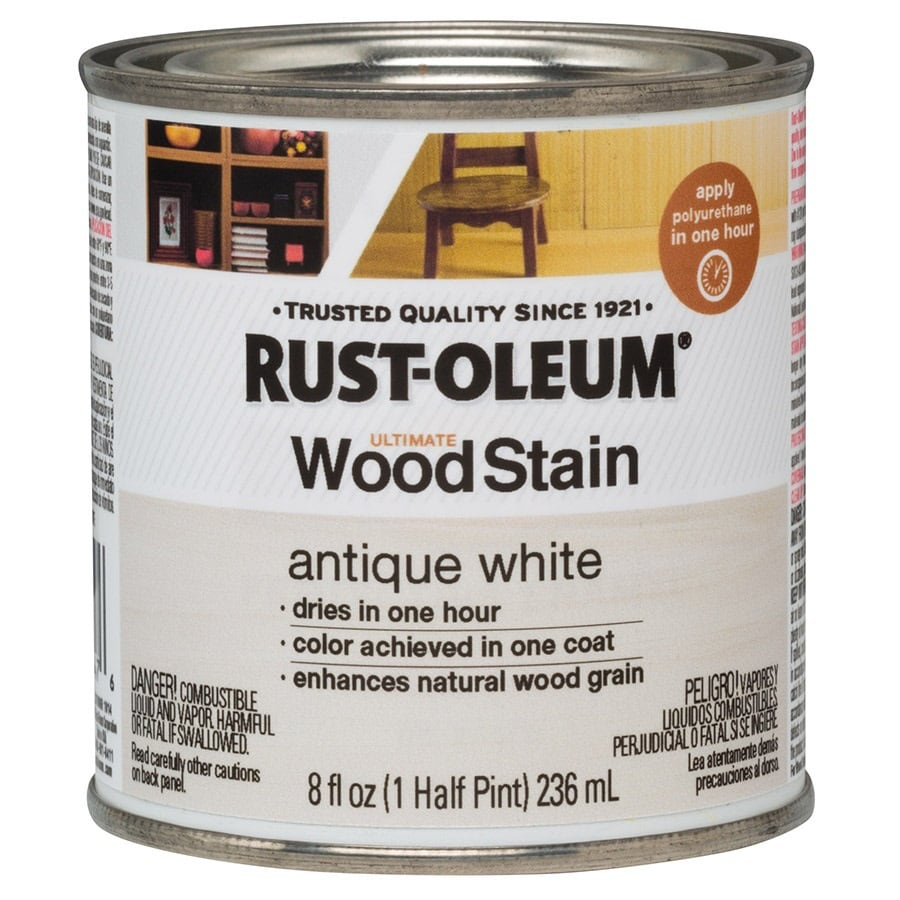 Wood stain 8 fl oz antique white oil based interior stain at lowes com