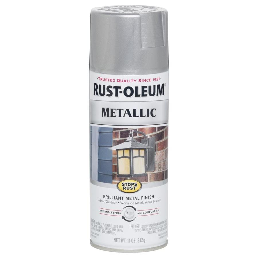 Shop rust oleum stops rust silver metallic rust resistant enamel spray paint actual net Metallic spray paint colors