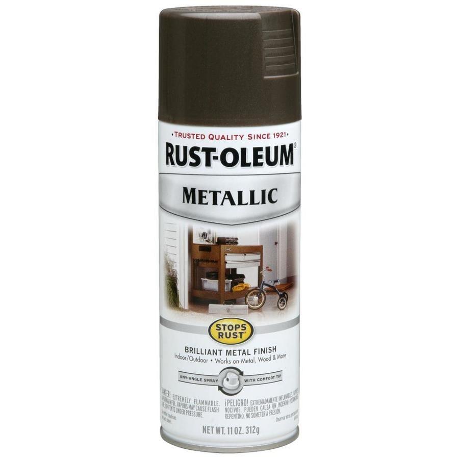 Rust-Oleum Stops Rust Dark Bronze Metallic Rust Resistant Enamel Spray Paint (Actual Net Contents: 11-oz)