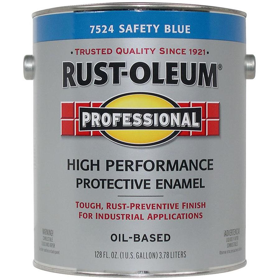 Rust-Oleum Professional Safety Blue Gloss Enamel Interior/Exterior Paint (Actual Net Contents: 128-fl oz)