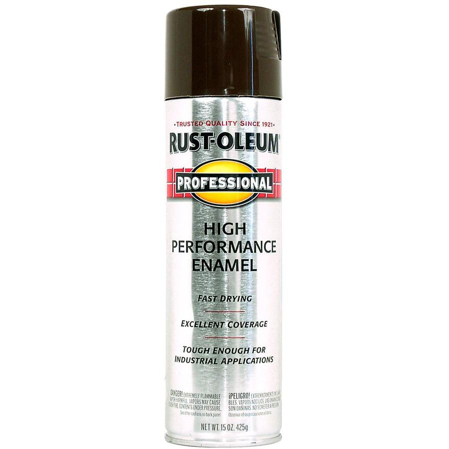 Shop Rust Oleum Professional Dark Brown Rust Resistant Enamel Spray Paint Actual Net Contents