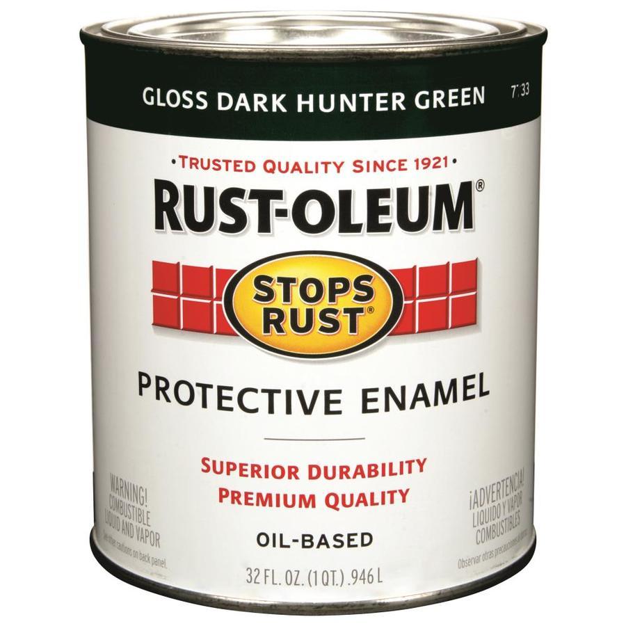 Shop Rust Oleum Stops Rust Dark Hunter Green Gloss Oil Based Enamel Interior Exterior Paint