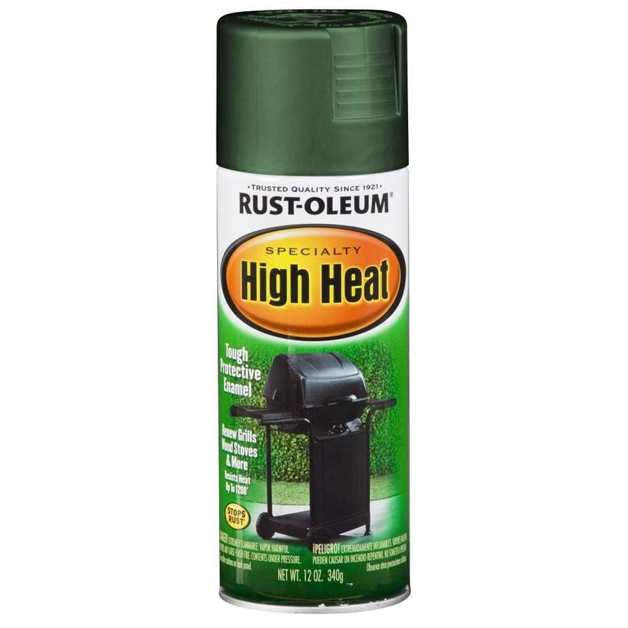 Rust Oleum High Heat Oil Based Enamel Exterior Interior Black 12 Pt
