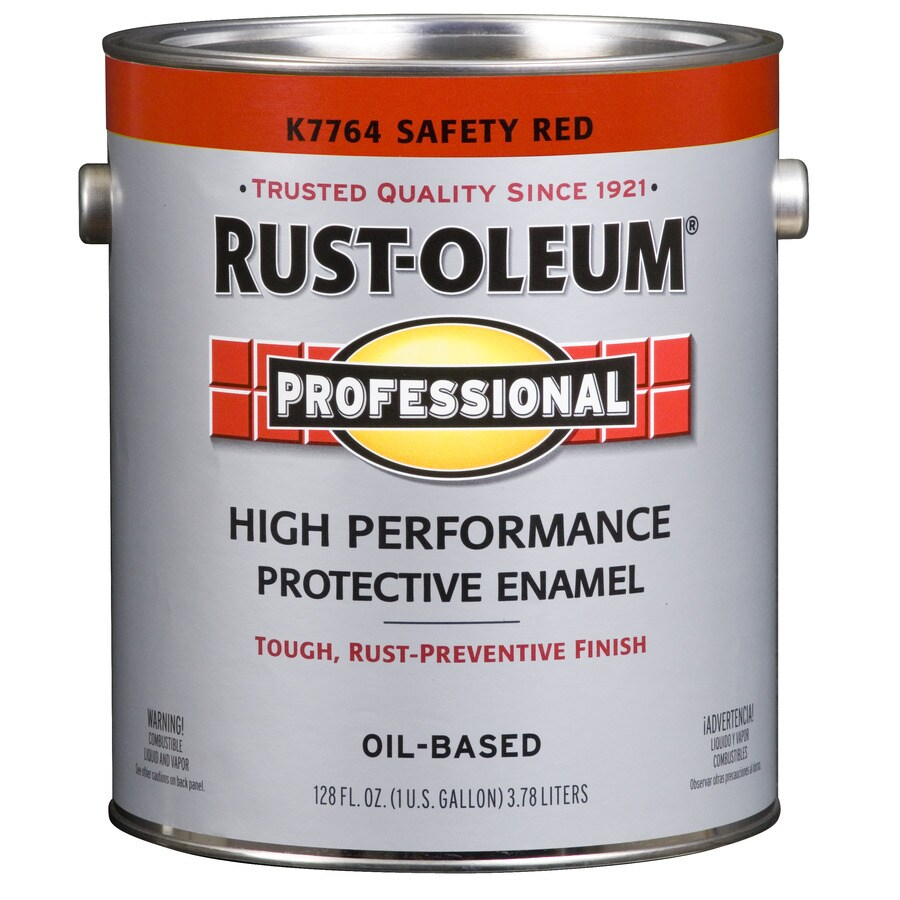Shop Rust Oleum Professional Safety Red Gloss Gloss Oil Based Enamel Interior Exterior Paint