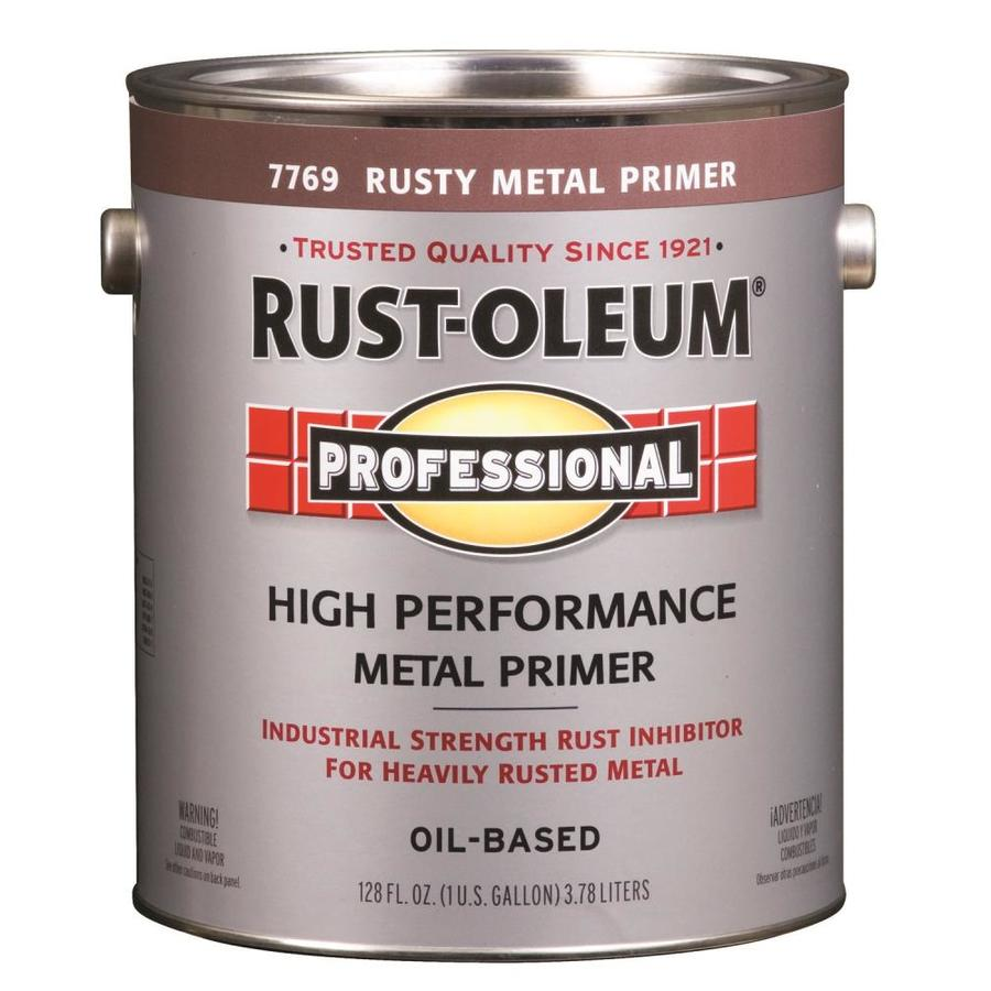Rust-Oleum Professional Red Flat Enamel Interior/Exterior Paint (Actual Net Contents: 128-fl oz)