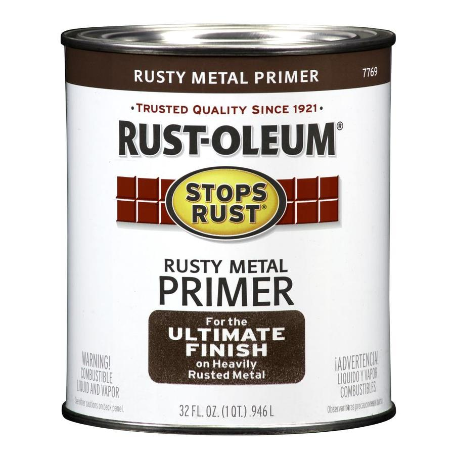 Shop Rust Oleum Stops Rust Rusty Red Flat Oil Based Enamel Interior Exterior Paint Actual Net