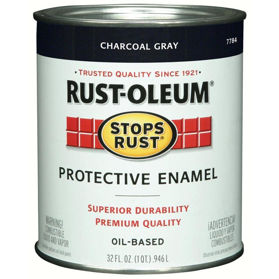 Rust-Oleum Stops Rust Charcoal Gray Gloss Oil-Based Enamel Interior/Exterior Paint (Actual Net Contents: 32-fl oz)