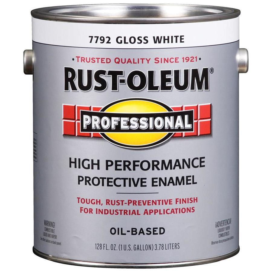 Rust-Oleum Professional Gloss/White Gloss Enamel Interior/Exterior Paint (Actual Net Contents: 128-fl oz)
