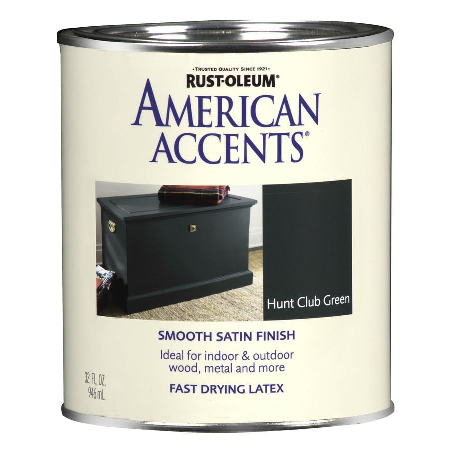 Shop rust oleum american accents hunt club green satin for Rustoleum exterior metal paint