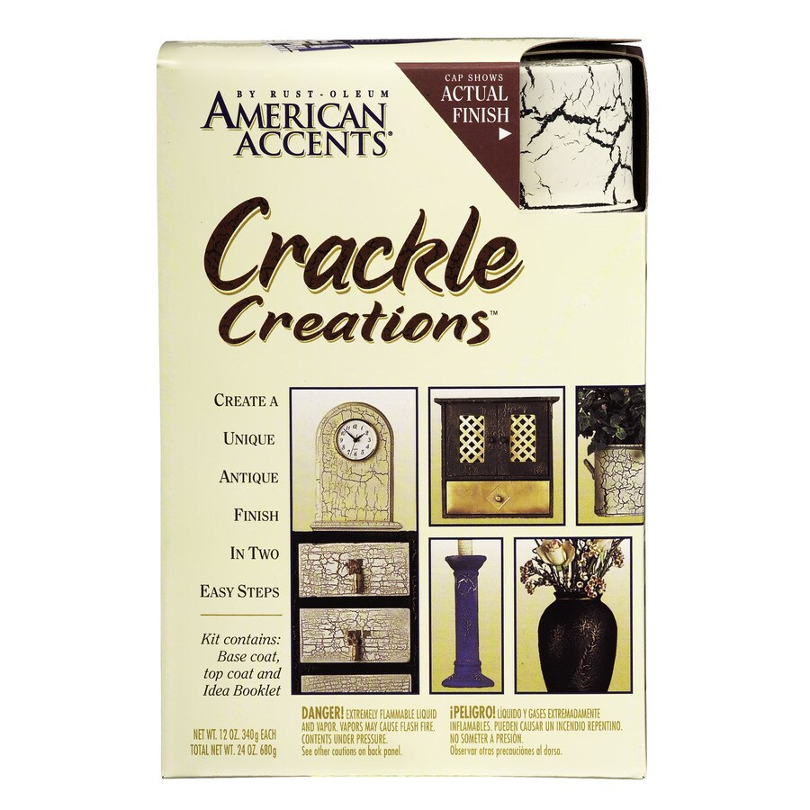 Rust-Oleum American Accents Decorative Finishes Ivory Crackle Fade Resistant Enamel Spray Paint (Actual Net Contents: 24-oz)