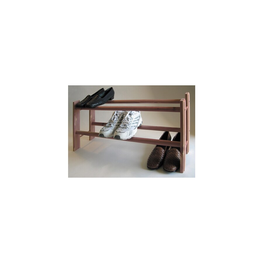 CedarAmerica 10 Pair Natural Wood Shoe Rack