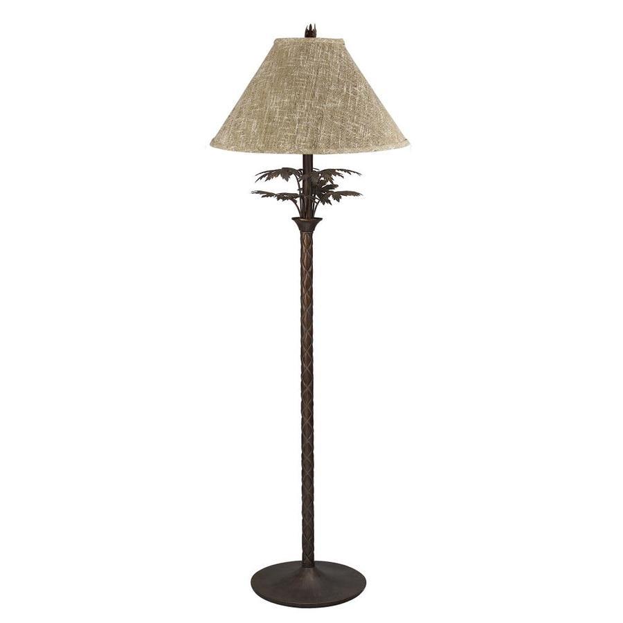 Axis 61-in 3-Way Switch Dark Bronze Torchiere Indoor Floor Lamp with Fabric Shade