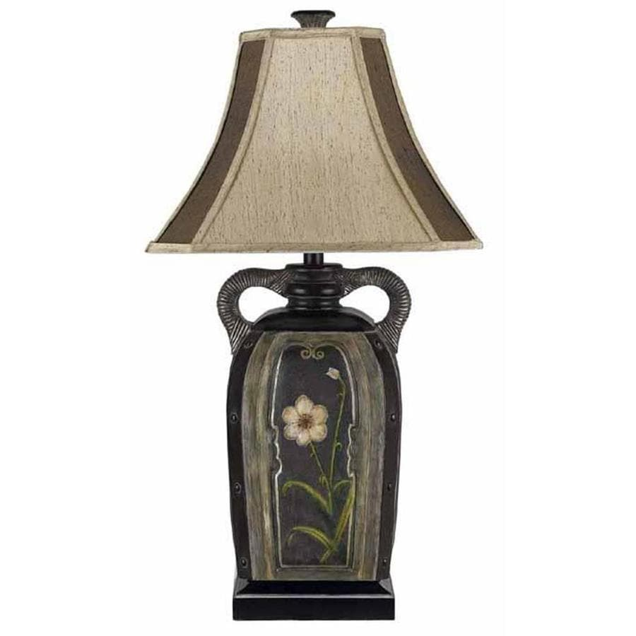 Axis 22-in 3-Way Terra Cotta Indoor Table Lamp with Fabric Shade