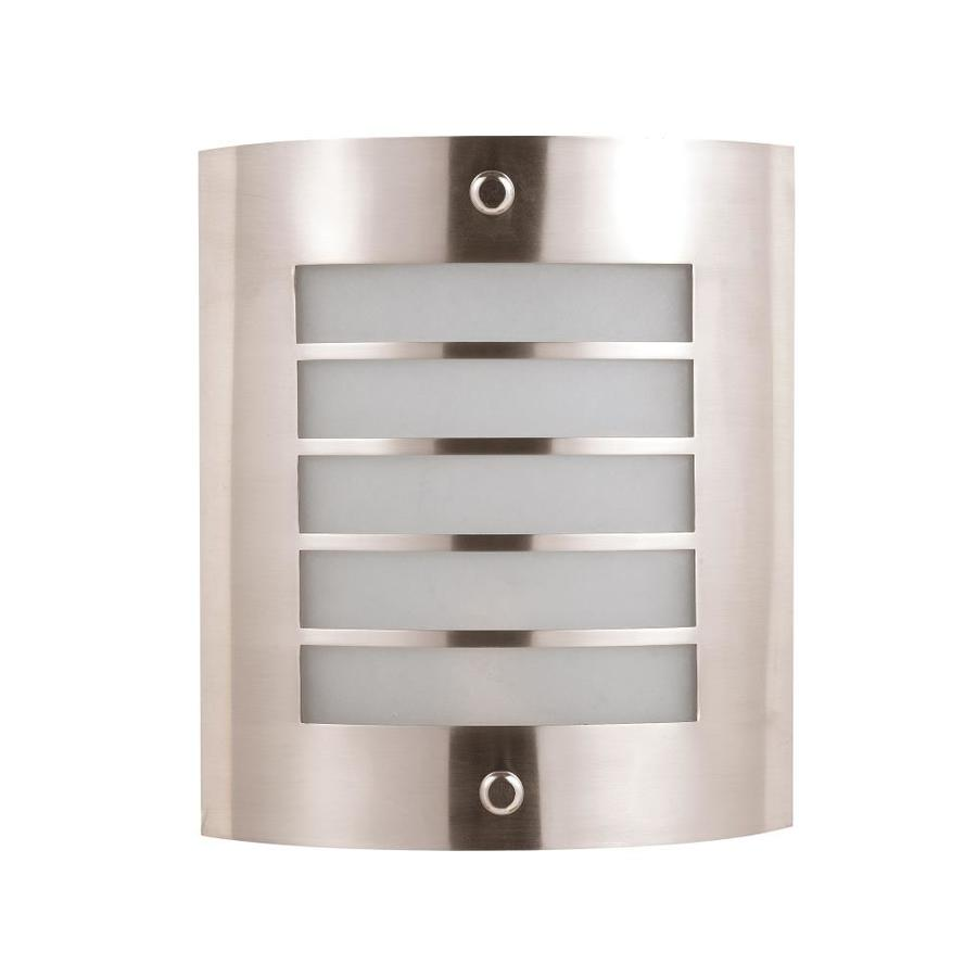 Axis 17.5-in W 1-Light Brushed Steel Corner Hardwired Wall Sconce