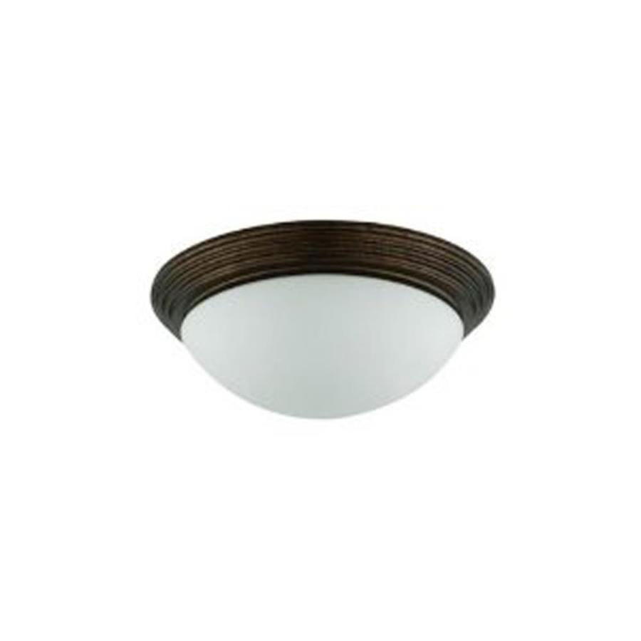 Axis 12-in W Black Ceiling Flush Mount Light