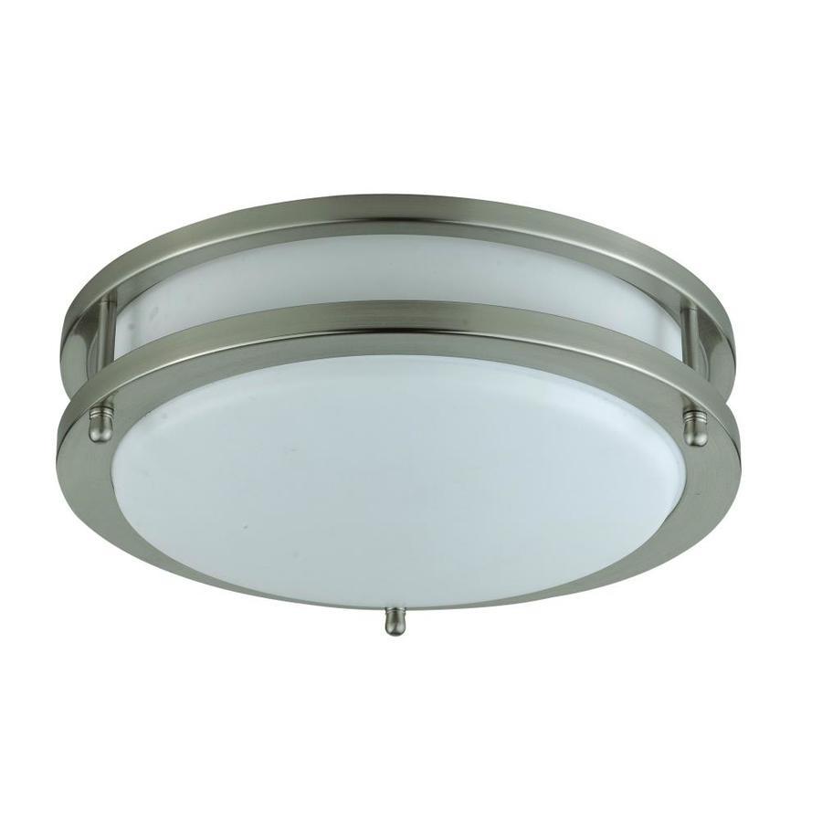 Axis 12-in W White Ceiling Flush Mount Light