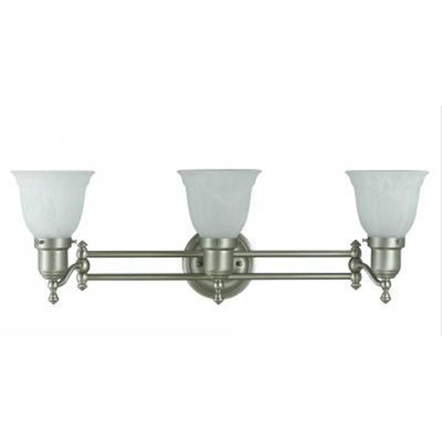 Axis 3-Light Brushed Steel Vanity Light
