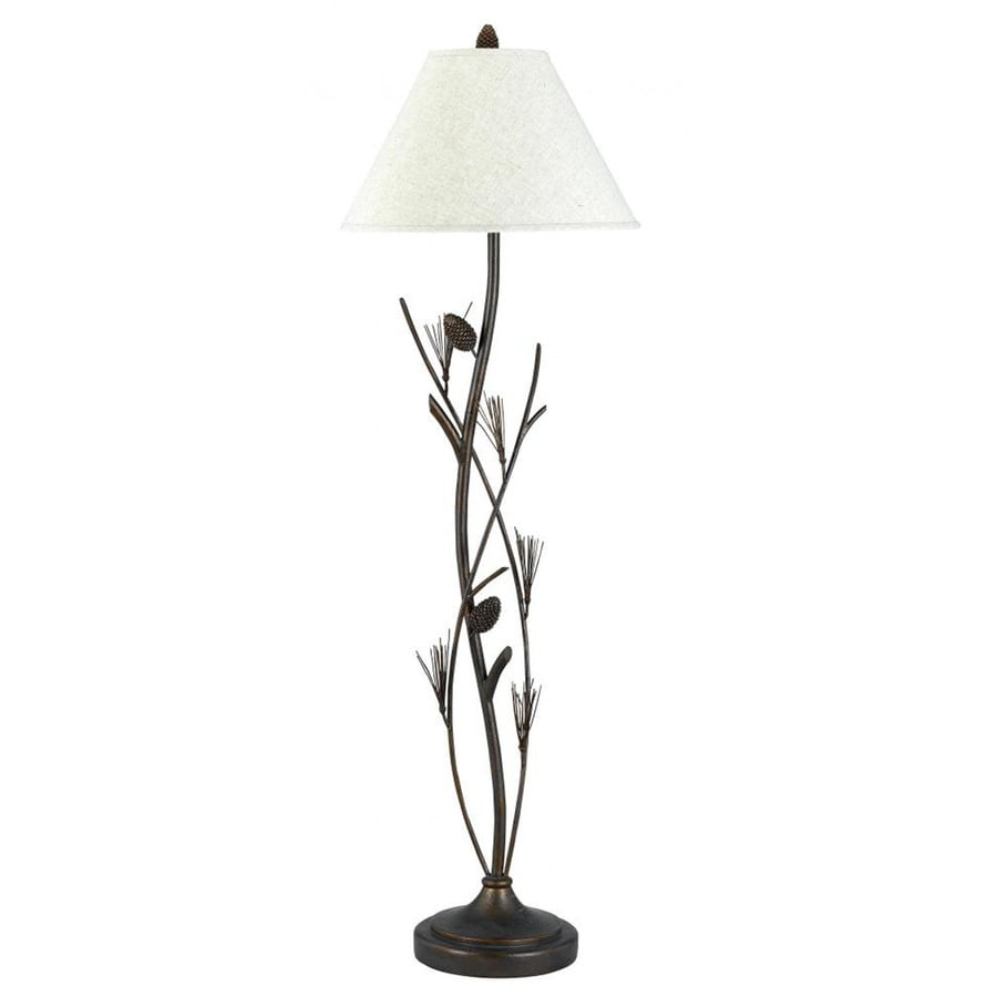 Axis 58-in 3-Way Switch Willow Torchiere Indoor Floor Lamp with Fabric Shade