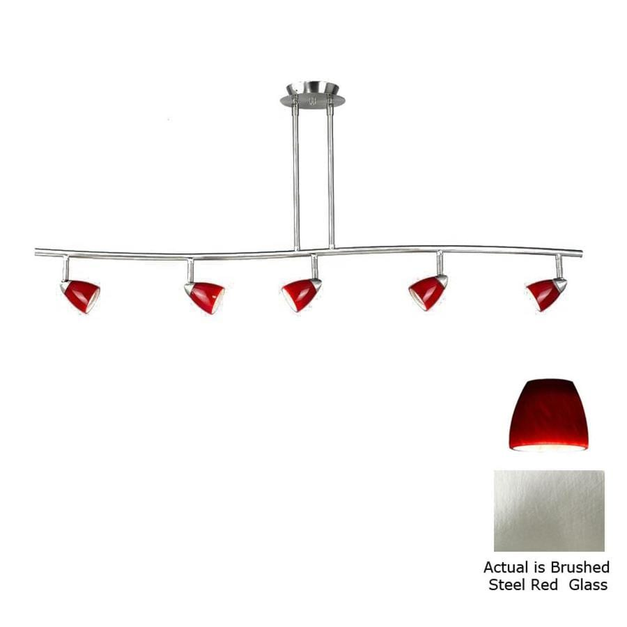Axis 5-Light 48-in Brushed Steel Fixed Track Light Kit