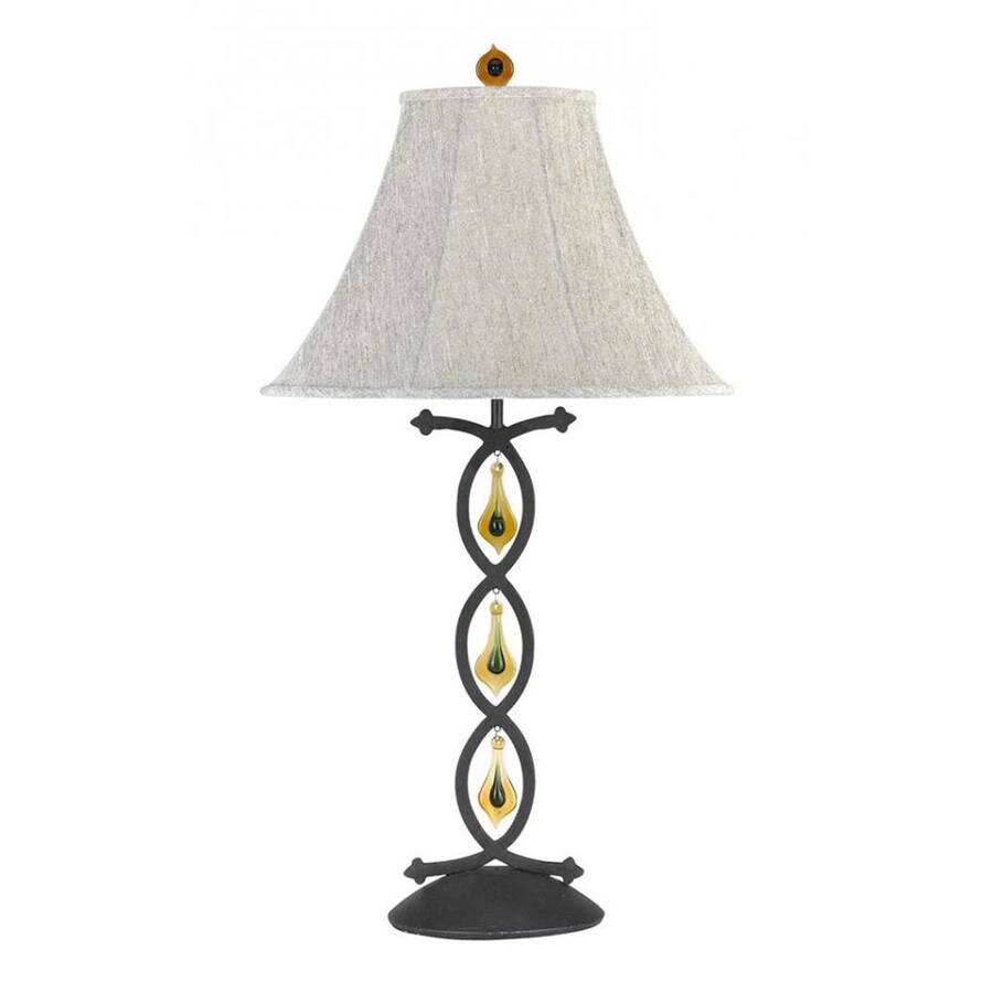 shop axis 8 in 3 way indigo indoor table lamp with fabric shade at. Black Bedroom Furniture Sets. Home Design Ideas