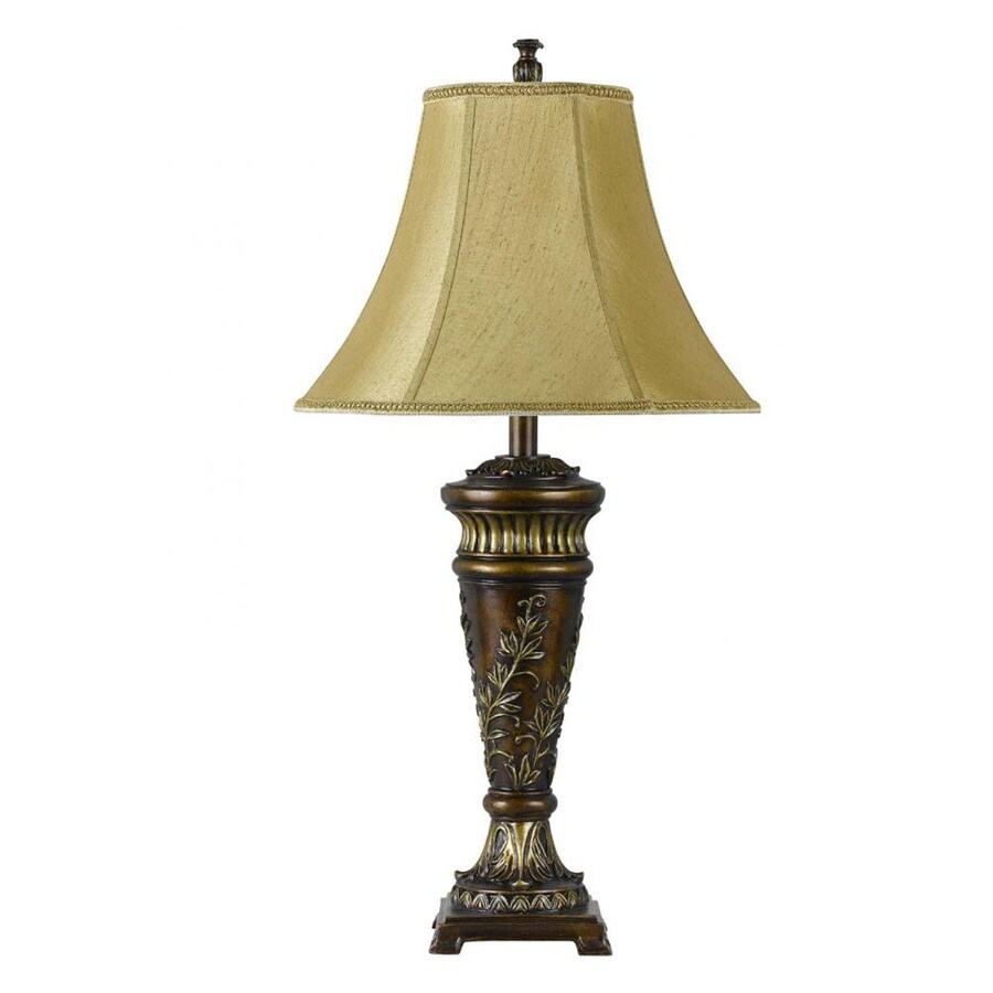 Axis 31-in 3-Way Antique Bronze Indoor Table Lamp with Fabric Shade