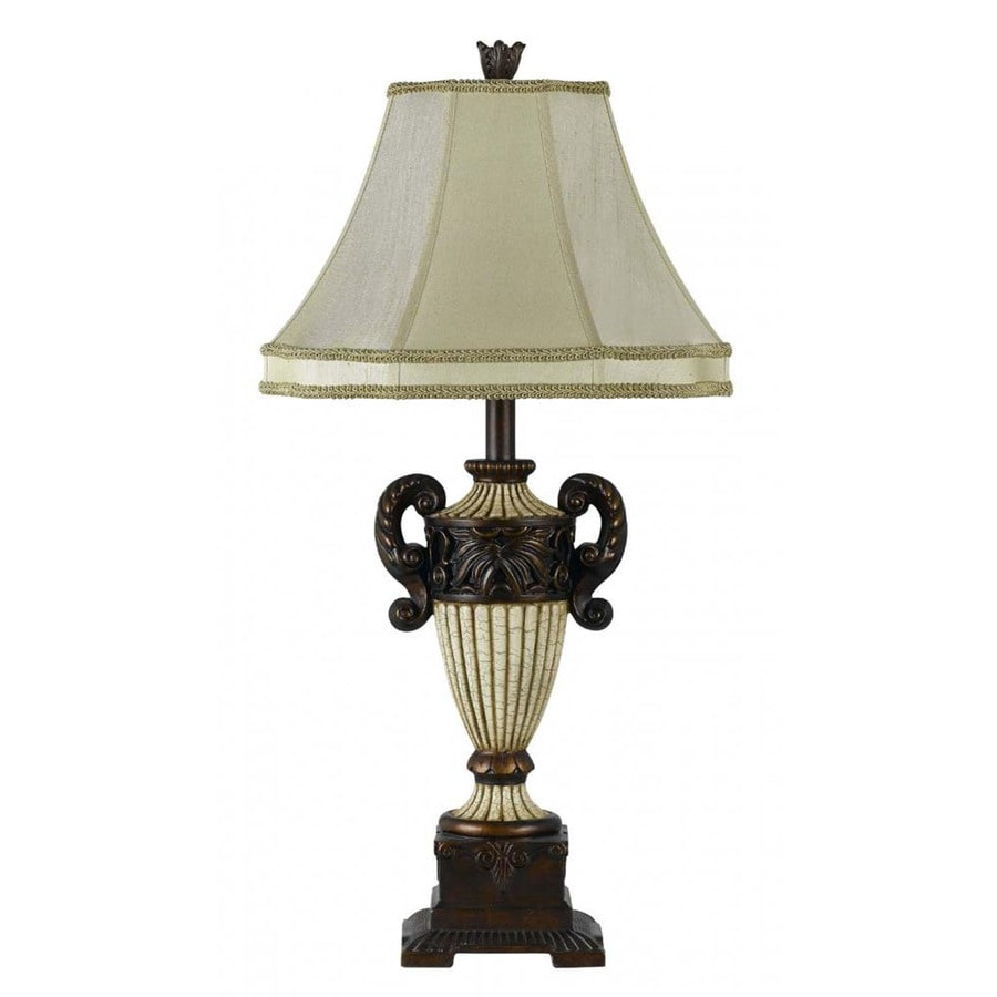 Axis 16-in 3-Way Wood Indoor Table Lamp with Fabric Shade