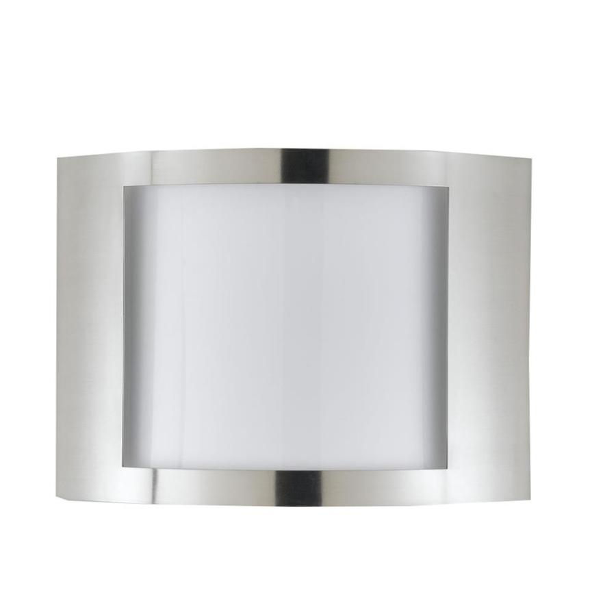 Axis 12-in W 1-Light Brushed Steel Corner Wall Sconce