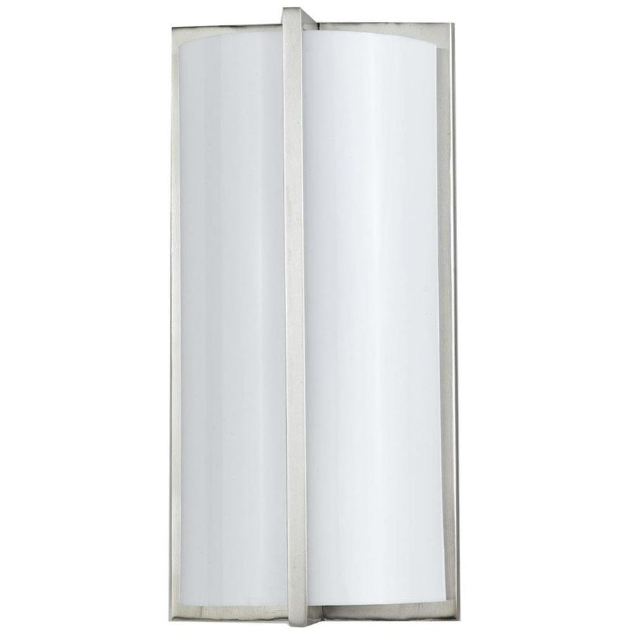 Axis 15.1-in W 1-Light Brushed Steel Corner Wall Sconce