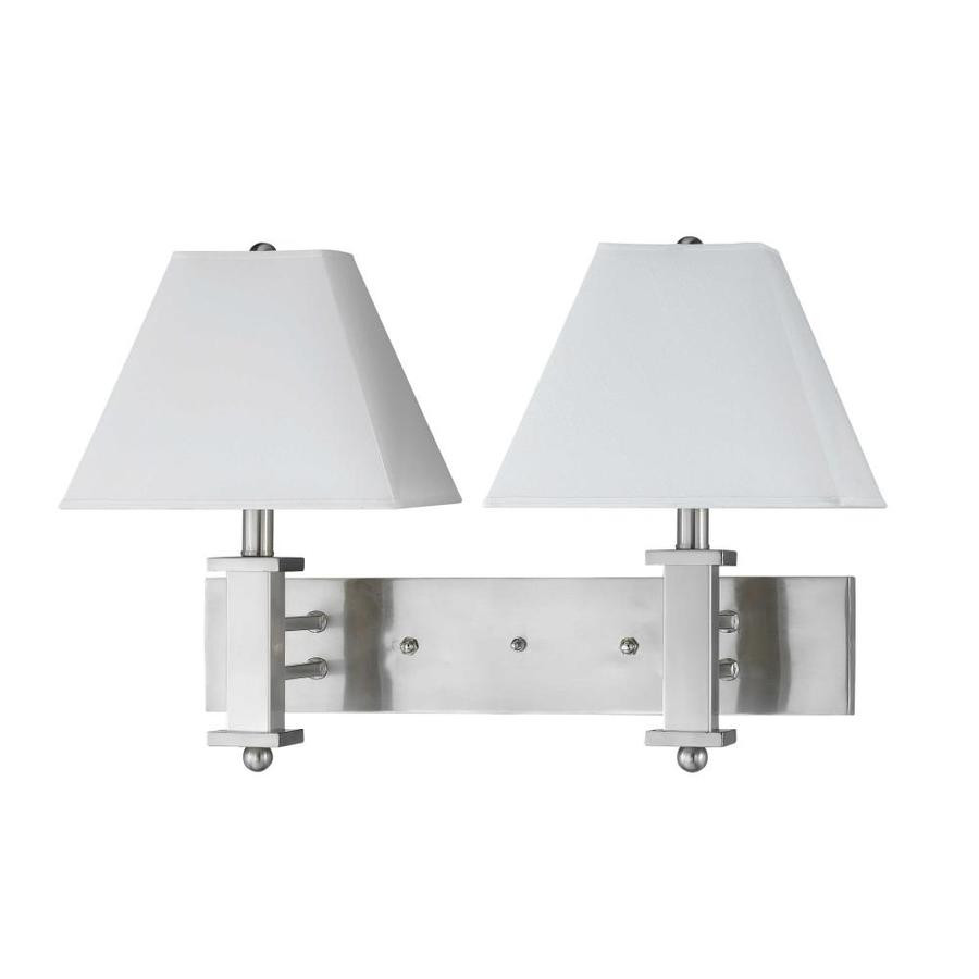 Axis 11-in W 2-Light Brushed Steel Arm Wall Sconce