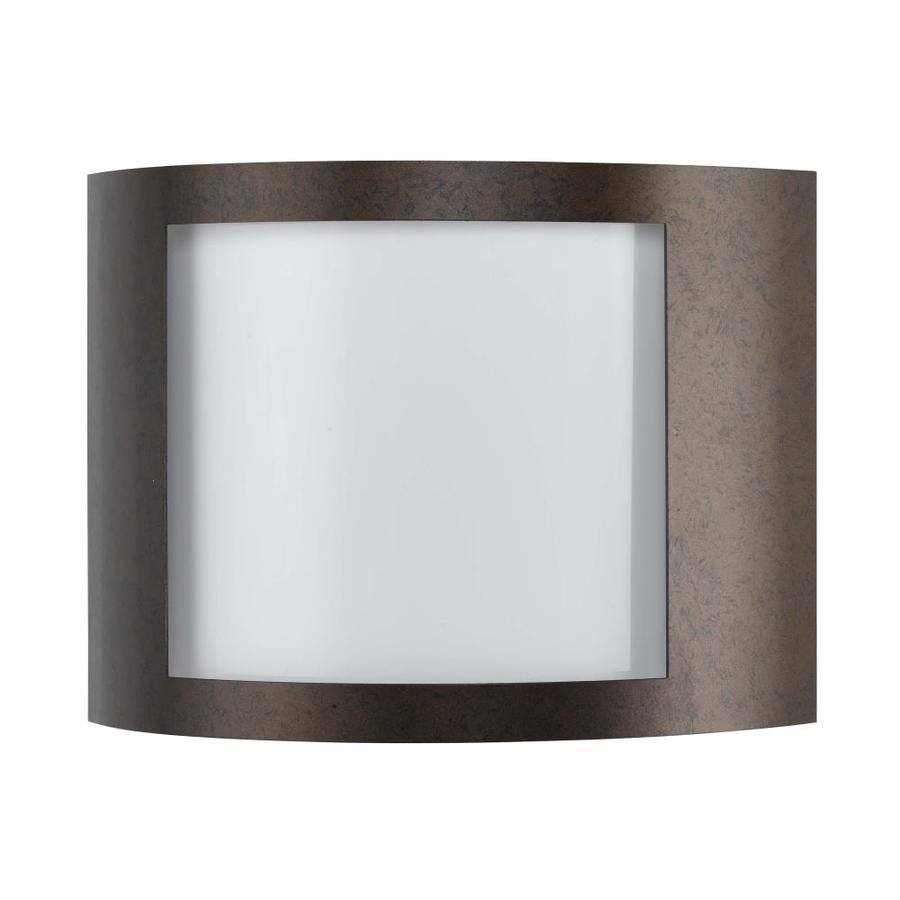Shop Axis 12-in W 1-Light Rust Corner Wall Sconce at Lowes.com