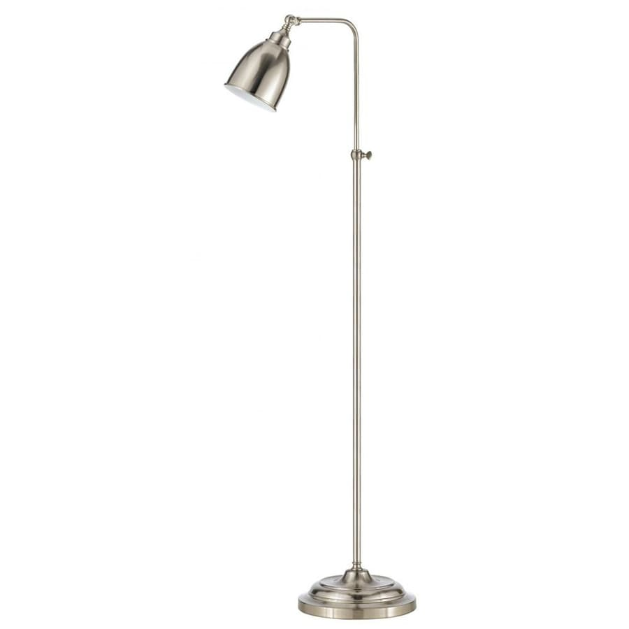 Axis 23-in 3-Way Switch Brushed Steel Torchiere Indoor Floor Lamp with Metal Shade