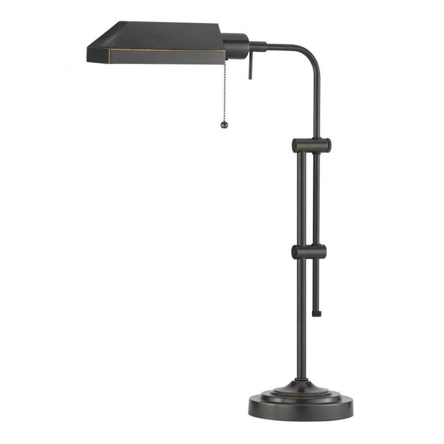 Axis 19-in 3-Way Dark Bronze Indoor Table Lamp with Metal Shade