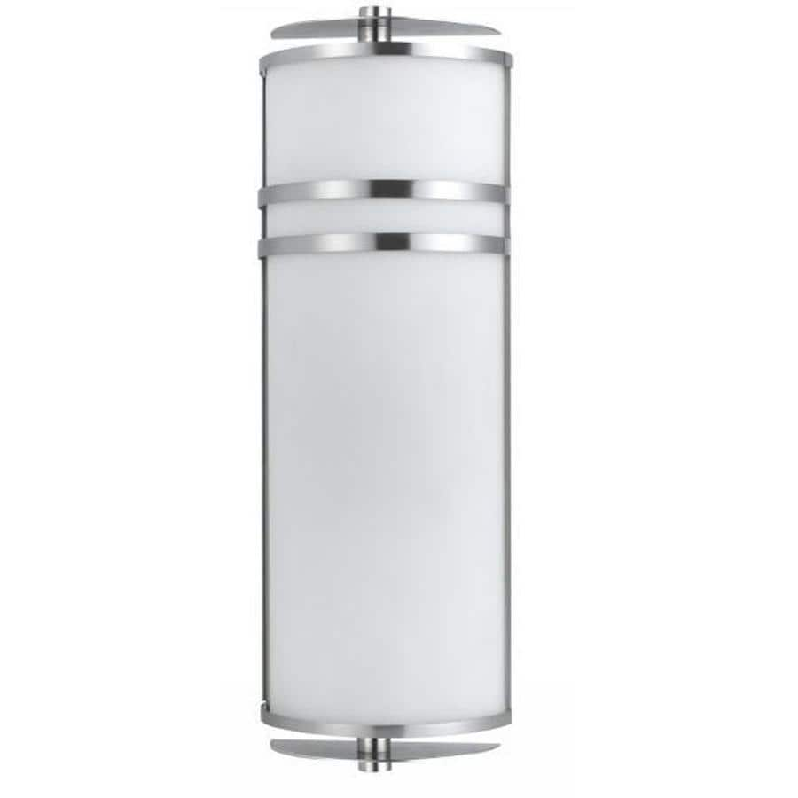 Shop Axis 13-in W 1-Light Brushed Steel Corner Wall Sconce at Lowes.com