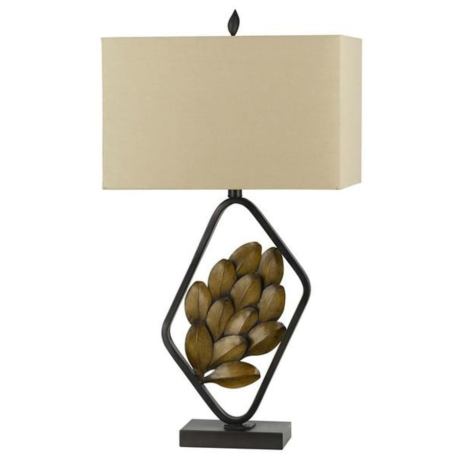 Axis 28-in 3-Way Rust Indoor Table Lamp with Fabric Shade