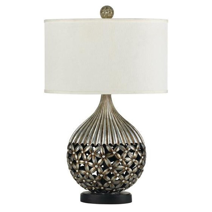 Axis 9-in 3-Way Coppery Indoor Table Lamp with Fabric Shade